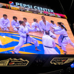 KARATE KIDS ROCKED THE NBA COURT AT PEPSI CENTER.